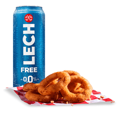 6x Onion Rings + Lech Free 0,0%